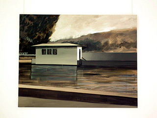 Maria Kiesner : Canal house : Tempera on Canvas