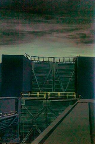 Maria Kiesner : Sluice : Tempera on Canvas
