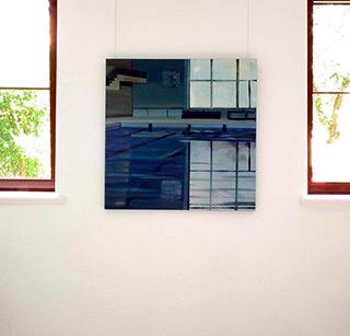 Maria Kiesner : Swimming pool : Tempera on Canvas