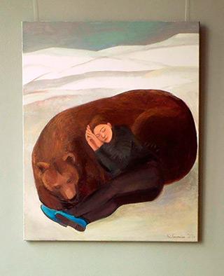 Katarzyna Karpowicz : Winter sleep : Oil on Canvas
