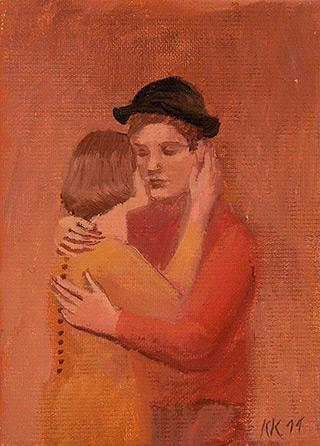 Katarzyna Karpowicz : Couple : Oil on Canvas