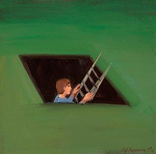 Katarzyna Karpowicz : Ladder : Oil on Canvas