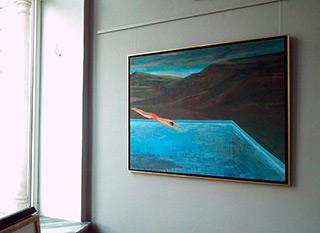 Katarzyna Karpowicz : Leap into water : Oil on Canvas