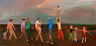 Katarzyna Karpowicz : Parade : Oil on Canvas