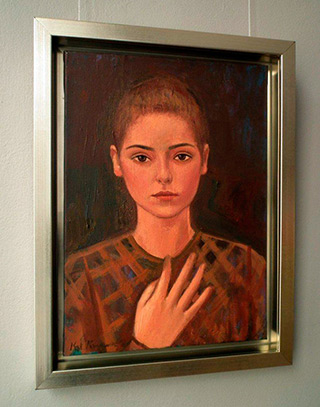 Katarzyna Karpowicz : Portrait of girl : Oil on Canvas