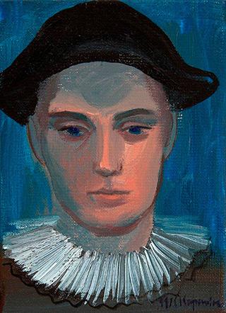 Katarzyna Karpowicz : Portrait of Pierrot : Oil on Canvas