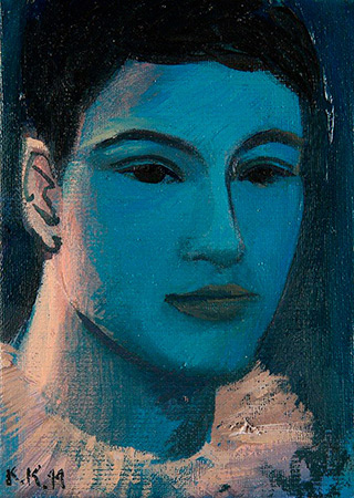 Katarzyna Karpowicz : Portrait of young man : Oil on Canvas