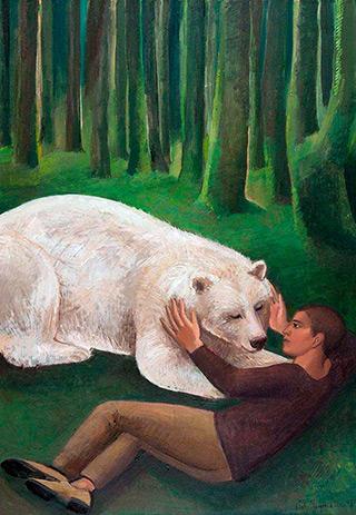 Katarzyna Karpowicz : White Black Bear : Oil on Canvas
