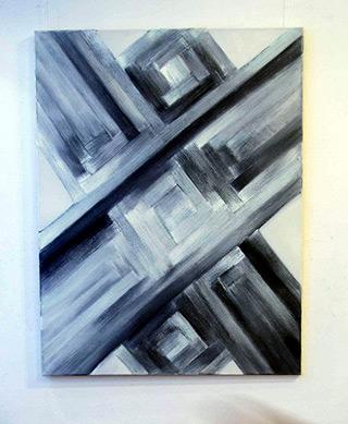 Anna Podlewska : Gray : Oil on Canvas