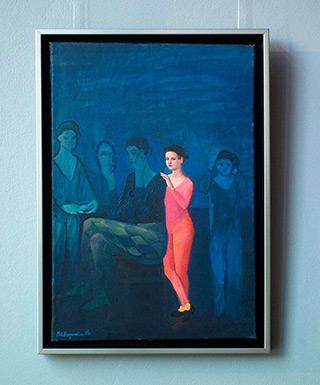 Katarzyna Karpowicz : Acrobat in a red dress : Oil on Canvas