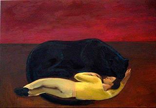 Katarzyna Karpowicz : Dream about Lula : Oil on Canvas