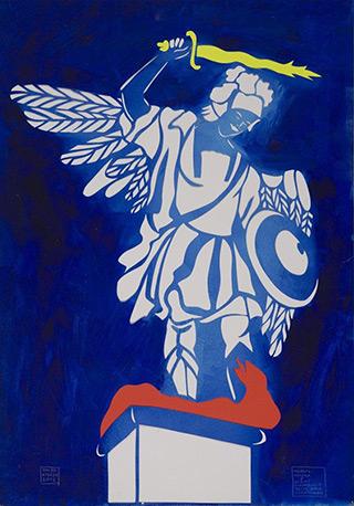 Jacek Łydżba : Angel from the Lubomirski Gate in Jasna Góra : Pattern, paper, enamel