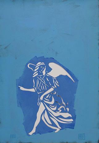 Jacek Łydżba : Angel : Pattern, paper, enamel