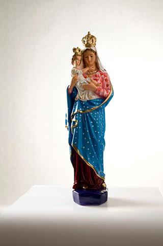Jacek Łydżba : Madonna with Child : Gypsum, enamel