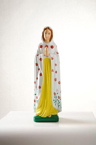 Jacek Łydżba : Rosa Mystica (Our Lady of Fátima) : Gypsum, enamel
