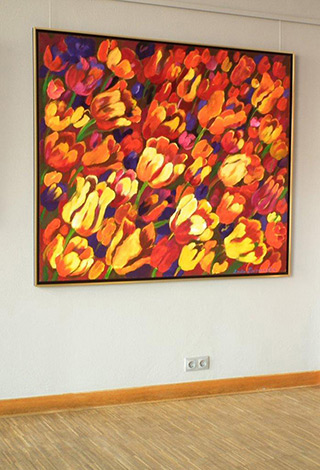 Beata Murawska : Big tulips : Oil on Canvas