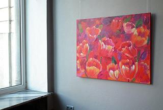 Beata Murawska : Pink flowers : Oil on Canvas