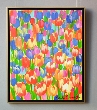 Beata Murawska : Spring visit : Oil on Canvas