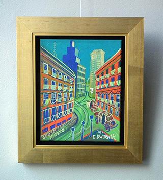 Edward Dwurnik : Abandoned city : Oil on Canvas