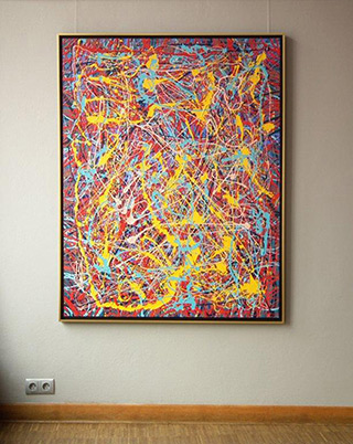 Edward Dwurnik : Abstract painting No 72 : Oil on Canvas
