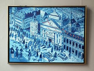 Edward Dwurnik : Blue Warsaw : Oil on Canvas