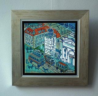 Edward Dwurnik : Krakowskie Przedmiescie : Oil on Canvas