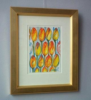 Edward Dwurnik : Tulips : Tempera on Paper