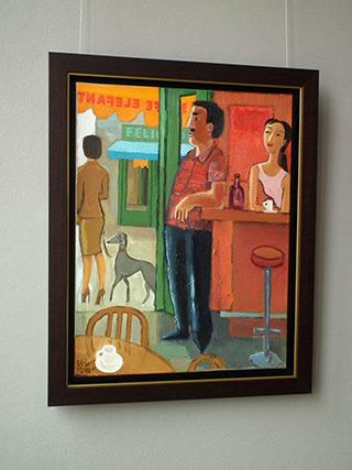 Krzysztof Kokoryn : Cafe Elefant : Oil on Canvas