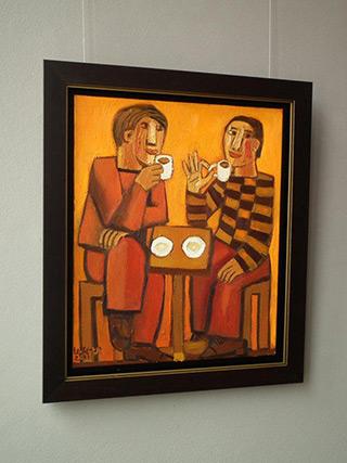 Krzysztof Kokoryn : Coffee fast : Oil on Canvas