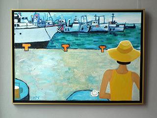 Krzysztof Kokoryn : Coffee in the port : Oil on Canvas