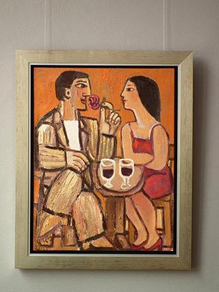 Krzysztof Kokoryn : Couple with rose : Oil on Canvas