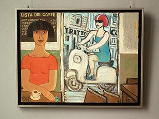 Krzysztof Kokoryn : Lista Dei Caffe : Oil on Canvas
