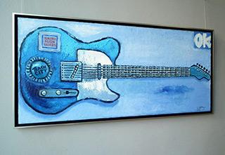 Krzysztof Kokoryn : Orion's Fender Telecaster : Oil on Canvas