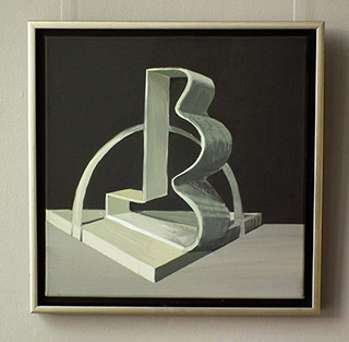 Maria Kiesner : Composition after Kobro : Tempera on Canvas