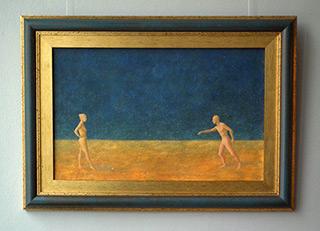 Mikołaj Kasprzyk : Boules players : Oil on Canvas