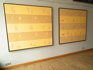 Mikołaj Kasprzyk : Family  I & II : Oil on Canvas