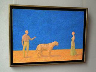 Mikołaj Kasprzyk : Tiger : Oil on Canvas
