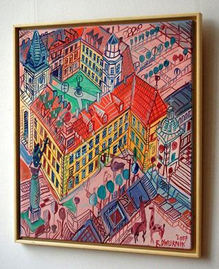 Edward Dwurnik : Royal Castle : Oil on Canvas