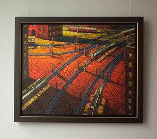 Adam Patrzyk : Trams : Oil on Canvas