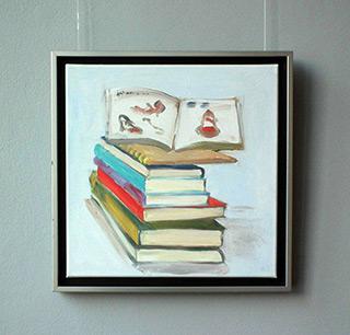 Bogna Gniazdowska : Plie of books : Oil on Canvas