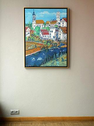 Edward Dwurnik : Bystrzyca Kłodzka : Oil on Canvas