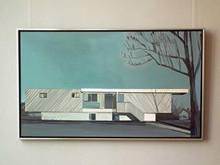 Maria Kiesner : Villa with tree : Tempera on Canvas