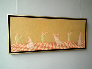 Mikołaj Kasprzyk : Flying lesson : Oil on Canvas