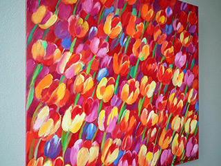 Beata Murawska : Square garden : Oil on Canvas