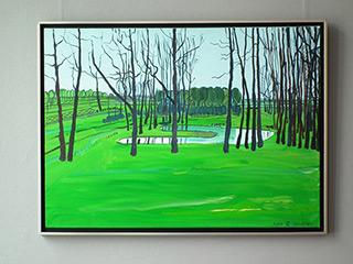 Edward Dwurnik : Garden : Oil on Canvas