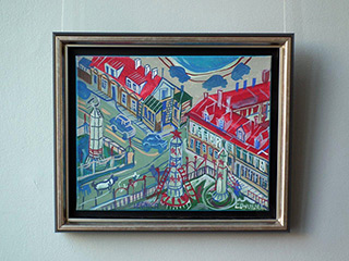 Edward Dwurnik : Legnica : Oil on Canvas