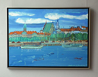 Edward Dwurnik : Warsaw - Canaletto - View : Oil on Canvas
