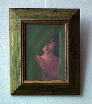 Katarzyna Karpowicz : Behind the curtain : Oil on Canvas