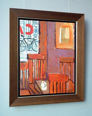 Krzysztof Kokoryn : Indoor cafe : Oil on Canvas