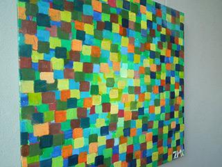 Zofia Matuszczyk-Cygańska : Green mosaic : Oil on Canvas
